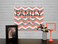 Chevron Family Canvas I Think Could Work On My And Paint This