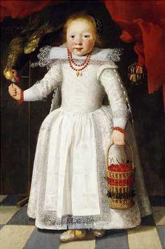 Anonymous, portrait of Christina Vervoorn, 1625 - Christie's New York 1995
