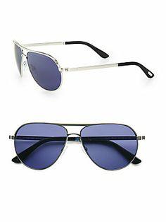 Tom Ford Eyewear Marko Aviator Sunglasses