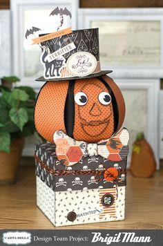 "Brigit's Scraps ""Where Scraps Become Treasures"": Carta Bella Halloween Pumpkin Box"