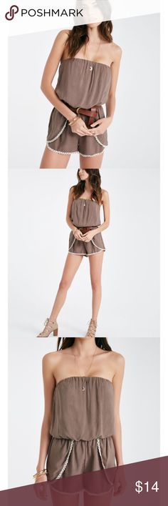 NWT Strapless Romper with Envelope Shorts NWT!!! In a beautiful Olive color Wet Seal Other