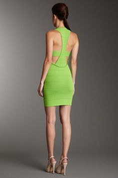 Love a strong back.  Wow Couture  Sleeveless Racerback Bodycon Dress