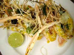 grilled scampi with lime juice