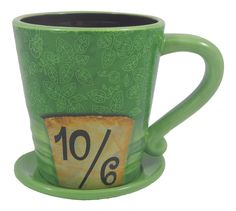 Amazon.com   Disney Parks Alice in Wonderland Mad as a Hatter Ceramic Coffee Mug - Disney Parks Exclusive & Limited Availability: Coffee Cups & Mugs