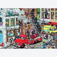 Solve Fire Alarm (extra small) jigsaw puzzle online with 108 pieces Cartoon Art Styles, Cartoon Pics, Cartoon Picture, Funny Puzzles, Jigsaw Puzzles, Cartoon Puzzle, Picture Writing Prompts, Puzzle Art, Hidden Pictures