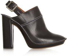 Chloé Leather Slingback Mules  <>  @kimludcom