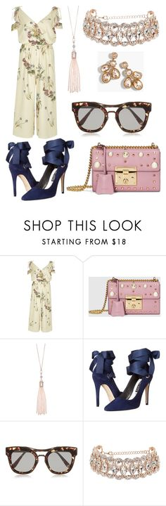 """Untitled #1541"" by filipaloves ❤ liked on Polyvore featuring River Island, Gucci, Oasis, Alice + Olivia, Bottega Veneta and J.Crew"