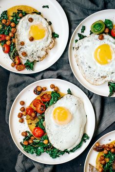 #finest-cuisine:  HUEVOS RANCHEROS WITH CHARRED KALE TOMATOES...
