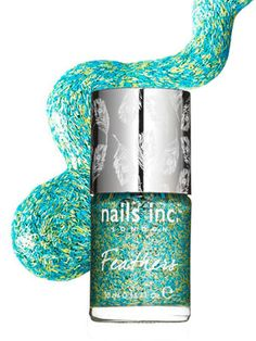 Best Beauty Under $10: Packed with tiny colored fibers, this top coat creates a feathery effect.