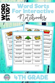 Make word study fun with these hands-on, interactive word sorts for fourth grade. Complete with 'how-to' directions, use the ideas in this resource for small group phonics instruction, in a spelling journal as a word sort, as a literacy center or game for practice. You can even send it home as guided practice for homework! Click the link to see how to use this tool to assess your students' phonics and decoding skills! #wordstudy #phonics #wordsorts #primary #hands-on #sorting #readingfluency