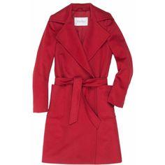 MaxMara Alpaca Coat (4.910 ARS) ❤ liked on Polyvore featuring outerwear, coats, red coat, maxmara coat, alpaca wool coat, maxmara and alpaca coat