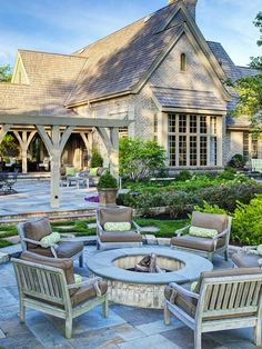 Limestone Fire Pit - 20 Backyard Fire Pit Design Ideas on HGTV