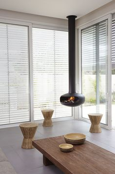 Robeys | Fireplaces | Ortal | Ortal Ceiling Mounted Hanging Gas Fireplace