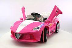 Ferrari Spider Style Kids Ride-On Car Battery Power Wheels RC Parental Remote Pink Ferrari, Ferrari Spider, Dirt Bikes For Kids, Kids Ride On Toys, Outdoor Toys For Kids, Pocket Bike, Kids Scooter, Power Wheels, Electric Skateboard