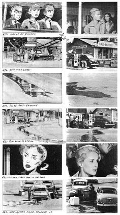 film storyboard alfred hitchcock - Google Search