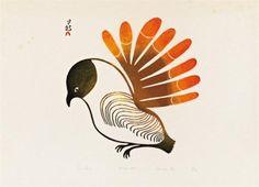 View Cape Dorset, Sun Bird By Lucy Qinnuayuak; Access more artwork lots and estimated & realized auction prices on MutualArt. Arte Inuit, Inuit Art, Wild Creatures, First Art, Pet Birds, Birds 2, Canadian Artists, Native Art, Bird Prints