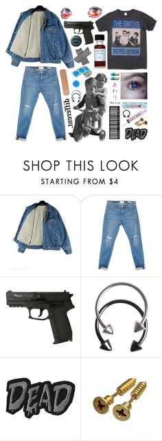 """""""THE SMITHS"""" by ahsennur-ozdemir ❤ liked on Polyvore featuring Frame, Brooks, Pieces and Hot Topic"""