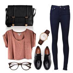 seek vintage l simple style w black skinny jean