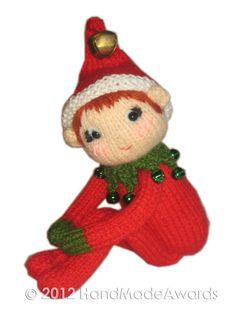 Pixie elfe genou Hugger Noël poupée Pdf Email par HandMadeAwards