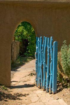 garden gate in  Taos  New Mexico