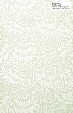 William Morris reproduction wallpaper: Larkspur. Designed by William Morris in 1872. per 33' (double) roll.