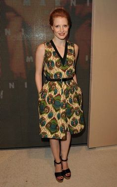 Jessica Chastain in Marni for H&M at the H&M Collection Launch: A Star-Studded Soiree