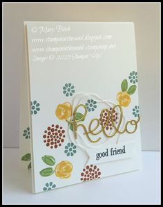 Stampin Up Garden in Bloom card friend. butterfly basics stamp set