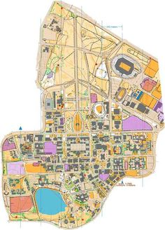 Map of Stanford University. Loved this campus and my days there.