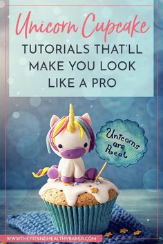 58 Ideas cupcakes decoration for kids unicorn Unicorn Cupcakes, Unicorn Party, Cupcake Art, Cupcake Cakes, Cupcake Tutorial, Beautiful Cupcakes, Cake Decorating Tutorials, Decorating Ideas, Salty Cake