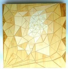 """Half-life"" Wooden inlay, 2016 (30x30 cm)"