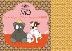 Papier Origami Madame Mo - Animaux - Madame Mo, Mes Habits Chéris - kidstore Récréatif - Décoration enfant