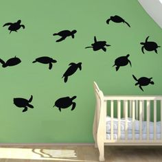 sea turtle wall stickers set
