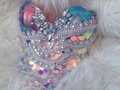 Sunset Scales Mermaid Bra rave bra halloween costume edmbedazzled me sexy Rave Festival, Festival Looks, Festival Wear, Festival Outfits, Festival Fashion, Festival Costumes, Mermaid Bra, Mermaid Names, Rave Gear
