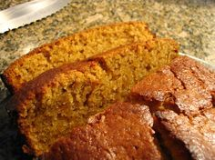 SUPER Moist Pumpkin Bread   I've used this recipe (adding in nuts and chocolate chips to taste) for two years now, I wont use another one. I've gotten so many compliments on my pumpkin bread. This is sweet, full of pumpkin flavor (bake your own pumpkin and puree it I like I do for an even better taste).