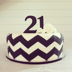 Black and white chevron cake for a 21st, Cakes by Beate, The Birdcage Stellenbosch