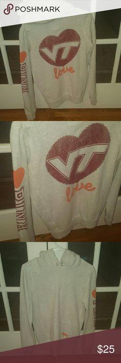 557f7e339 VS Love PINK Va Tech hoodie size Medium Victoria's Secret LOVE pink Virginia  Tech pullover hoodie