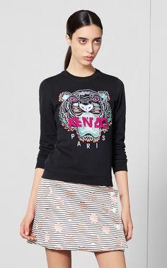 Tiger sweatshirt Kenzo Clothing, Indie Fashion, T Shirts For Women,  Sweaters For Women 265ea8e1846