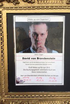 Neue Schmink-Termine in unserer Filiale in Bad Waldsee mit unserem Amica-Visagisten David von Brandenstein    #Dior #Sisley #Sensai