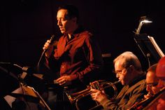 Theo Bleckmann and the late Kenny Wheeler, performing His Music for Large Ensemble  at the Jazz Standard, NYC