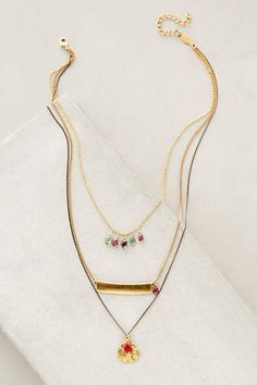Zephyrine Layered Necklace - anthropologie.com