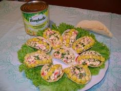Appetizer on chips «Tenderness Canapes, Zucchini, Sushi, Chips, Appetizers, Vegetables, Ethnic Recipes, Food, Buffets
