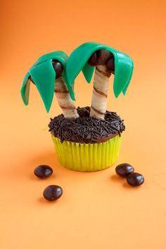 DIY Edible Palm Trees Cupcake Recipe!