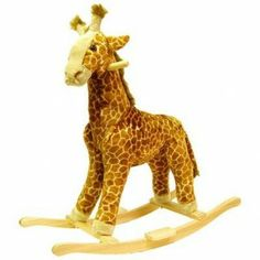 Happy Trails Giraffe Plush Rocking Animal #Kid #Kids #Toy #Toys #Christmas #Holiday #Holidays #Wish #Wishlist #Child #Children #Tricycles #Scooters #Wagons #Rides #Gift #Gifts #Present #Presents #Idea #Ideas $49
