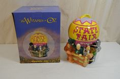 Wizard Of Oz Cookie Jar State Fair Balloon W/Wizard & Main Characters 1100-4-1