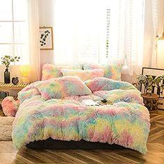 Faux Fur Bedding, Fluffy Bedding, Duvet Bedding, Comforter Cover, Pink Bedding, Duvet Cover Sets, Pillow Covers, Pink Bed Covers, Velvet Bedding Sets