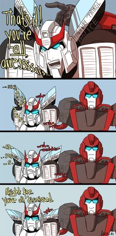 Ironhide's little trick to calming down Prowl.
