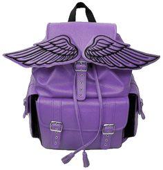 purple winged backpack