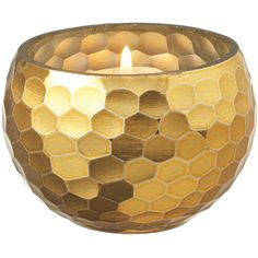 Dot & Bo Honeycomb Votive Holder ($13) ❤ liked on Polyvore featuring home, home decor, candles & candleholders and decor