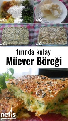 How to Make Easy Vegetable Pastry Recipe in the Oven? Bulgarian Recipes, Turkish Recipes, Ethnic Recipes, Pastry Recipes, Baking Recipes, Dessert Recipes, Yummy Recipes, Vegetable Muffins, Vegetable Recipes