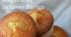 Hasta que no encontré esta receta de Xavier Barriga , no había conseguido antes esa sabor a magdalena de toda la vida, con una miga esponjo...